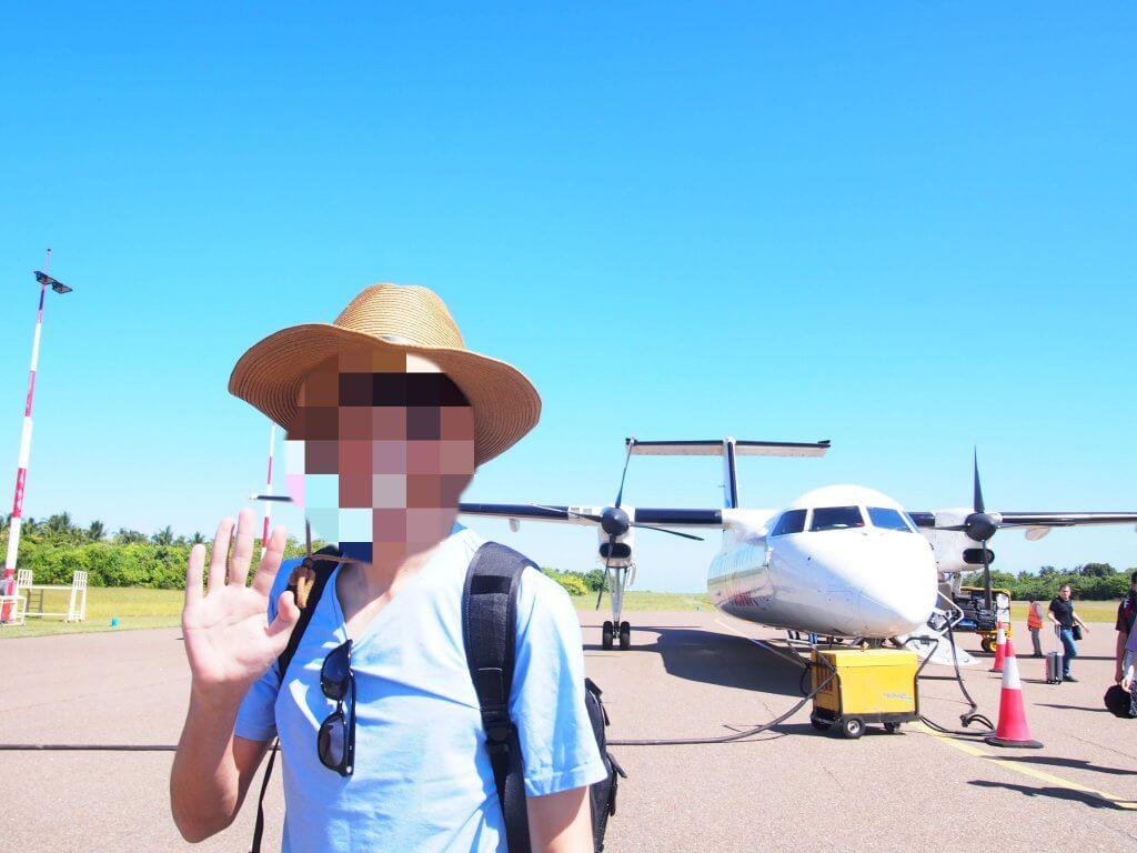 モルディブ 国内線飛行機 到着