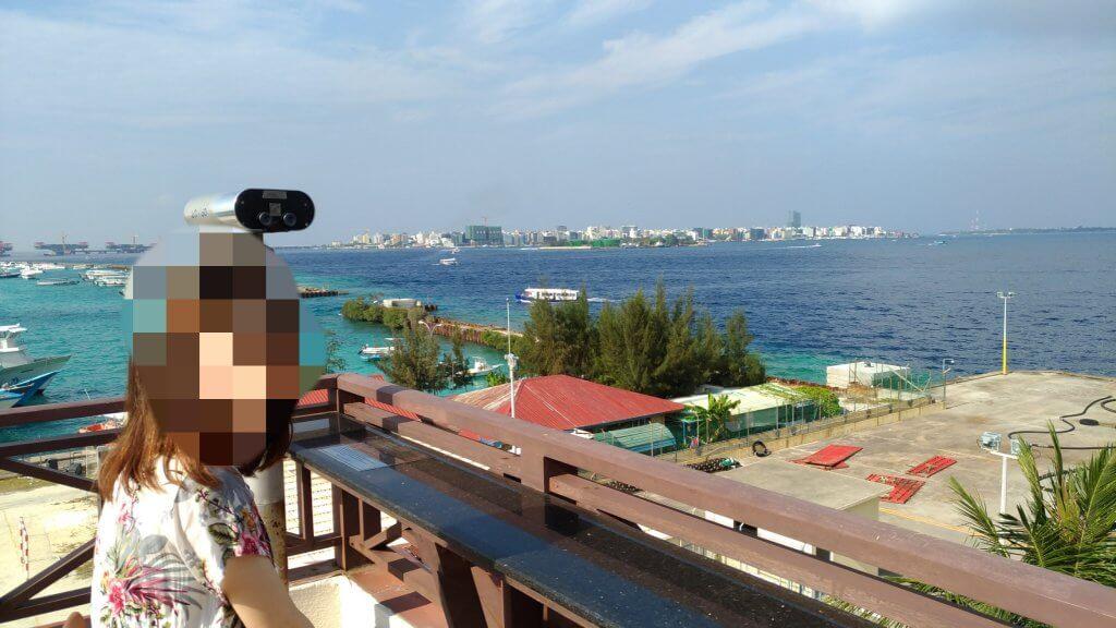 モルディブ マーレのホテルからの景色