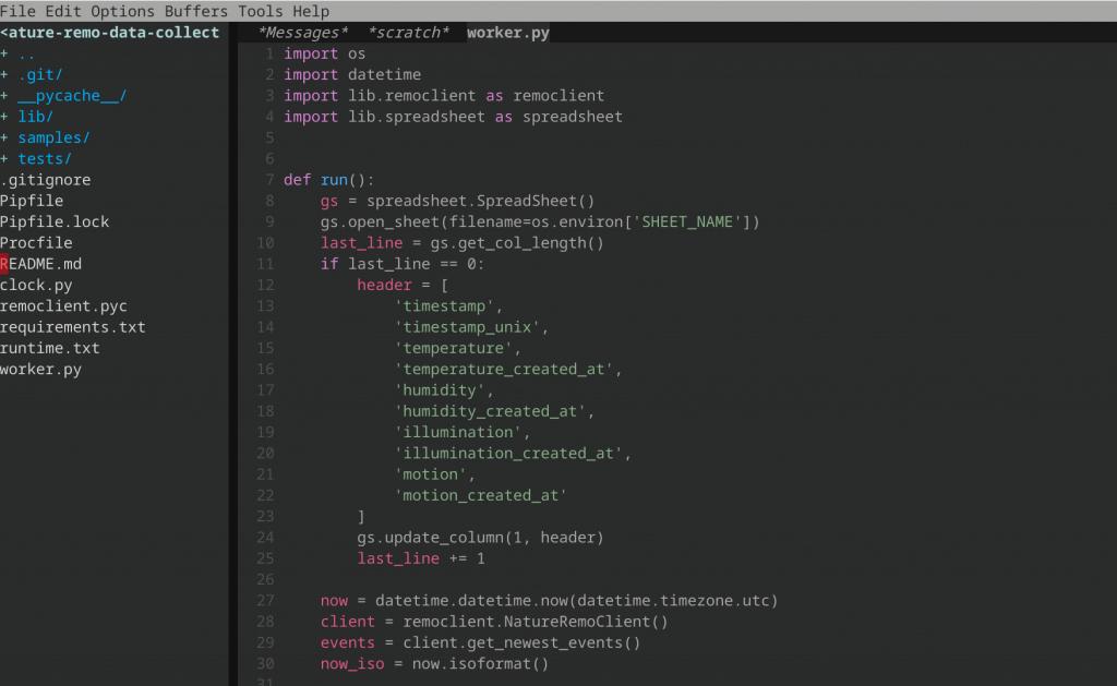 chromebook linux emacs