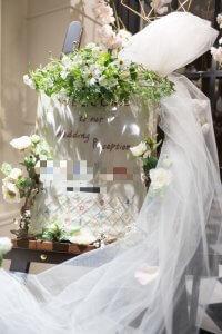 結婚式 ウェルカムボード 刺繍 お花